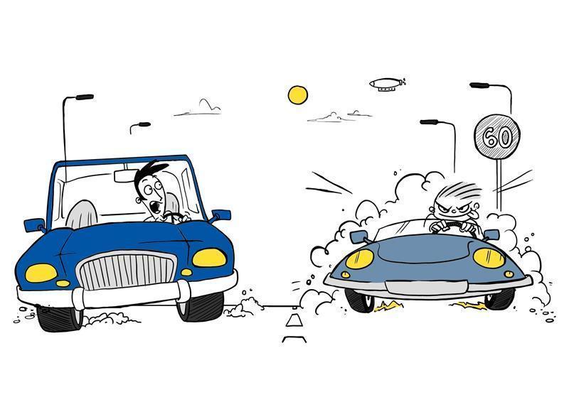 Vsakdo lahko zaradi enega voznika začne voziti agresivno