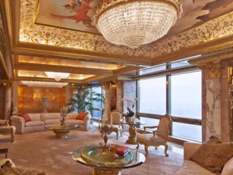 trumps-penthouse-has-a-gold-and-diamond-covered-door-an-indoor-fountain-a-painted-ceiling-and-an-ornate-chandelier